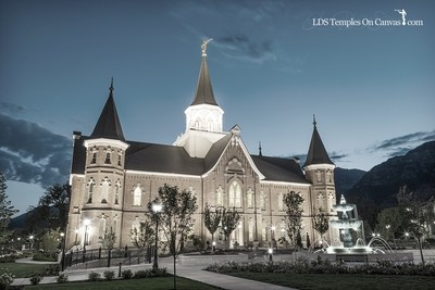 Provo City Center Utah LDS Temple - Rise Up - Tinted Black & White