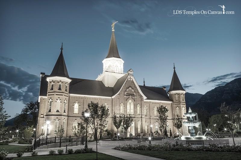 Provo City Center Utah LDS Temple - Rise Up - Tinted Black & White