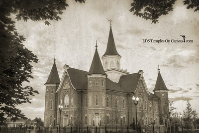 Provo City Center Utah LDS Temple - Eastward - Rustic