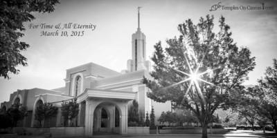 Timpanogas Utah LDS Temple - Summer Sunbeam - Black & White Print