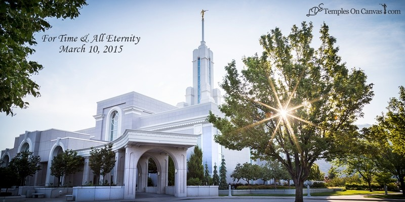 Timpanogas Utah LDS Temple - Summer Sunbeam - Full Color Print