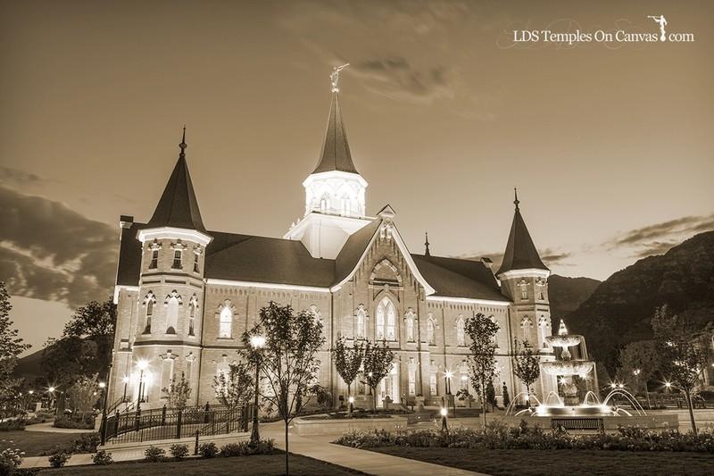 Provo City Center Utah LDS Temple - Rise Up - Sepia