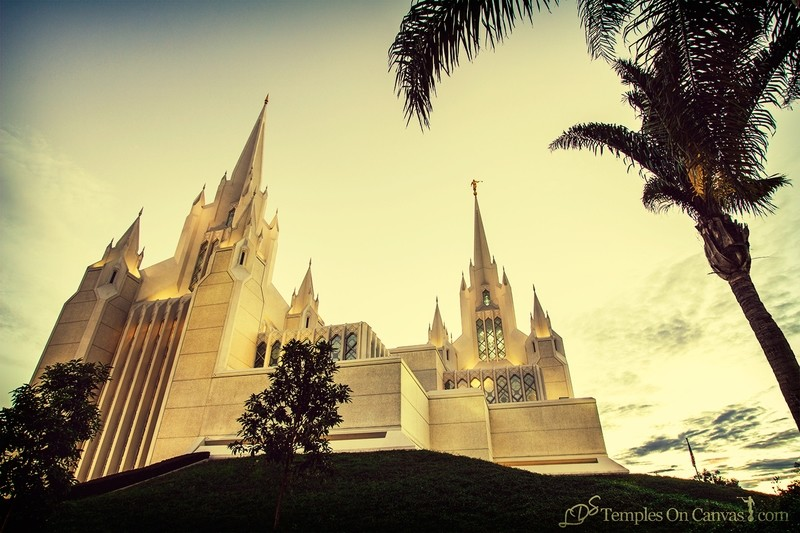 San Diego California Temple Art - Heavenward - Vintage