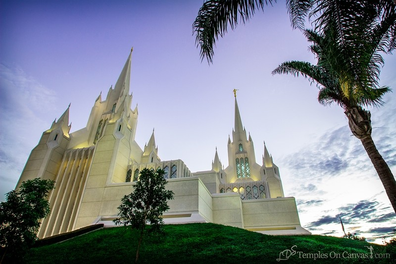 San Diego California Temple Art - Heavenward
