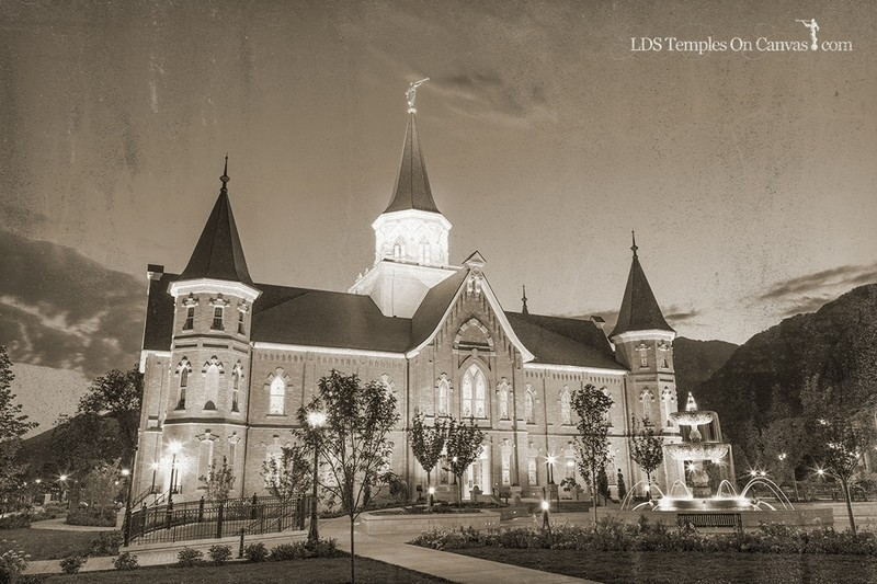 Provo City Center Utah LDS Temple - Rise Up - Rustic