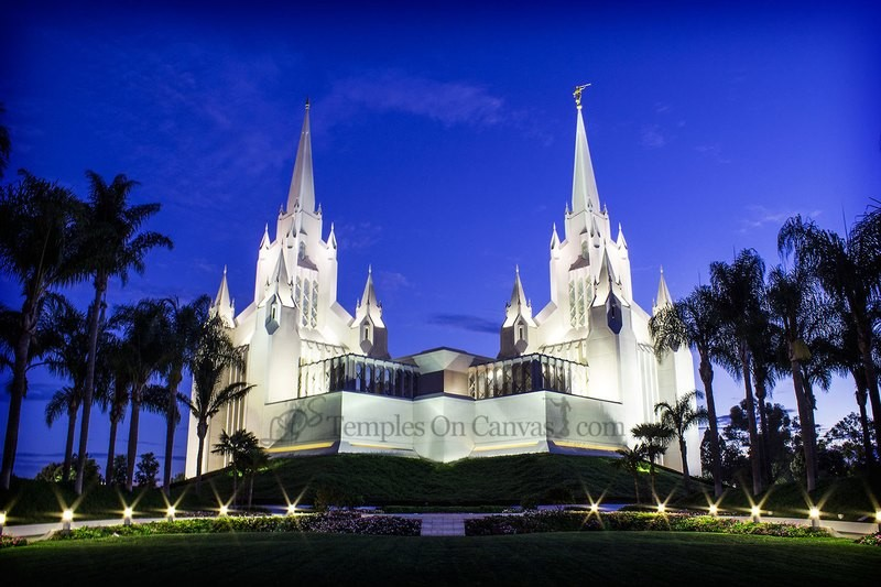 San Diego California Temple Art - Summer Sunrise
