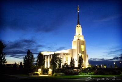 Twin Falls Idaho Temple - Peaceful Dusk