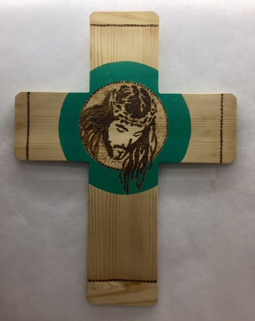 "Cross - wall hanging "" Face of Christ"""