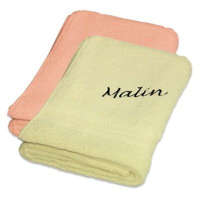 Håndkle med brodert navn 50x100 cm