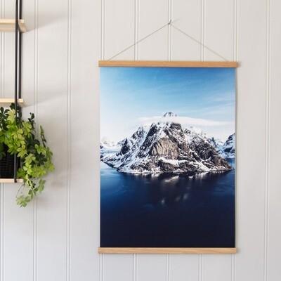 Rammelist med foto på på lerret i 50x70 cm