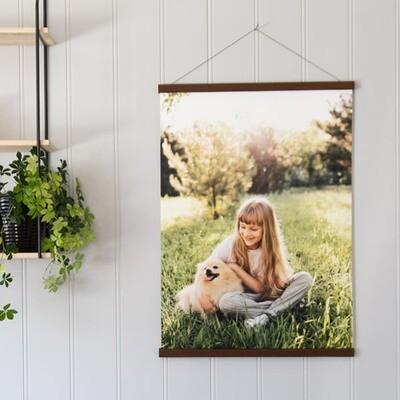 Rammelist med foto på lerret i 70x100 cm