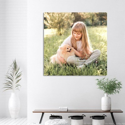 100x100cm print på aluplate
