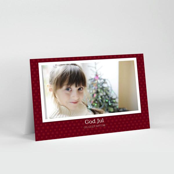 Julekort 10x15cm - trykk på 4 sider, liggende