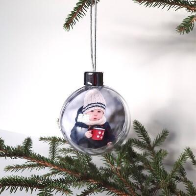 Julekule med ditt bilde