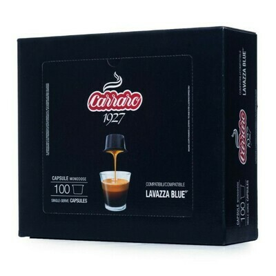 Decaffeinate Carraro 1927 Lavazza Blue бокс од 100 капсули