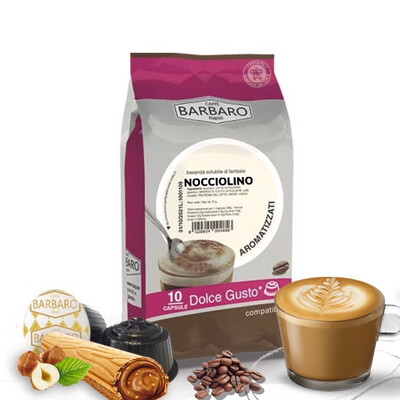 Barbaro Dolce Gusto NOCCIOLINO лешник Cappuccino/Latte 10 пар.