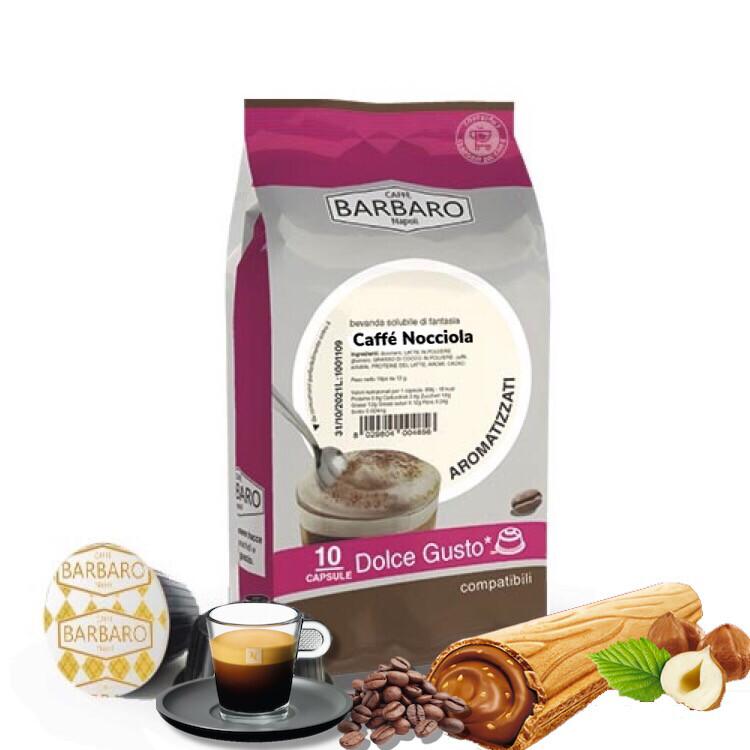 Barbaro Dolce Gusto NOCCIOLLA espresso со вкус на Лешник 10 пар.