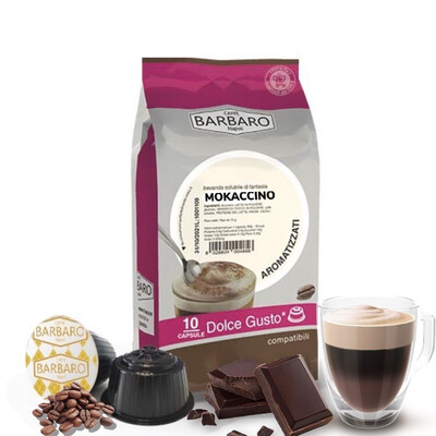 Barbaro Dolce Gusto MOKACCINO Чоколадно Capuccino/Latte 10 пар.