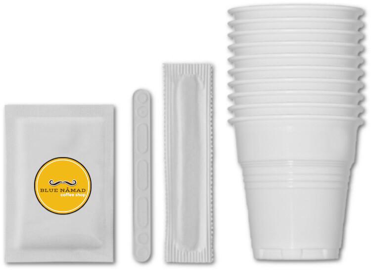 Office Coffee Box (100 Лажички+100 Чаши+100 пакуван Шеќер 5гр)