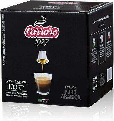 Carraro Nespresso Puro Arabica x100 парчиња