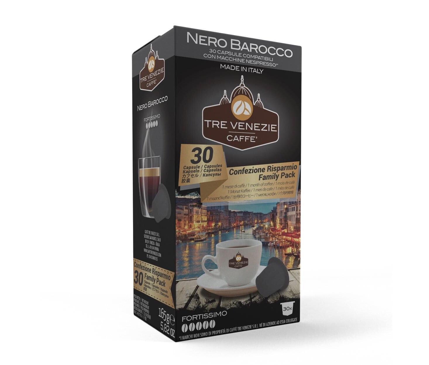 Tre Venezie Nespresso Nero Barocco х30 капусли