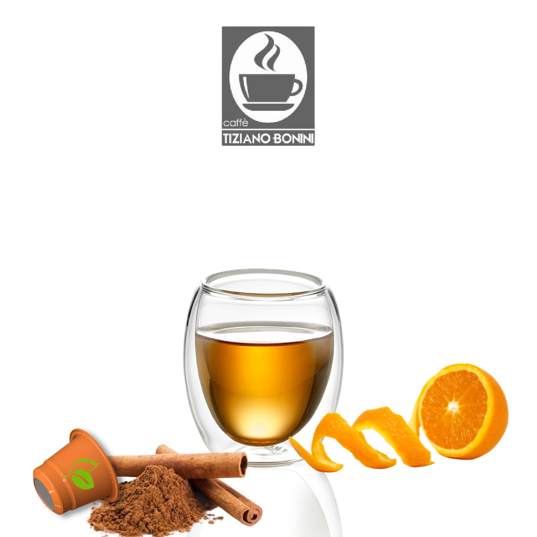 Bonini Nespresso Портокал со Цимет ЧАЈ х10пар.