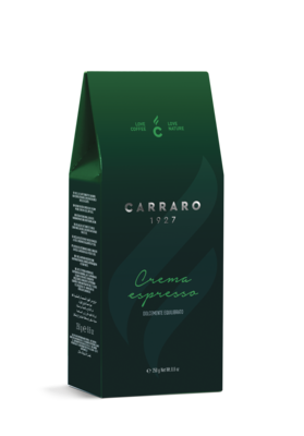 Carraro Crema Espresso мелено 75% Арабика 250 грама