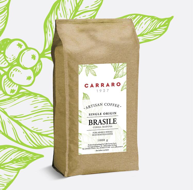 Carraro Brasile Specialty Artisan Cerrado Arabica еспресо зрно 1 кг