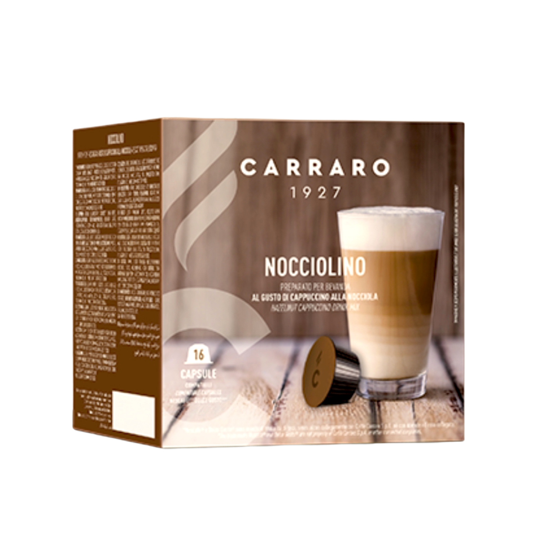 Carraro Dolce Gusto Hazelnut Cappuccino/Latte х16 капсули