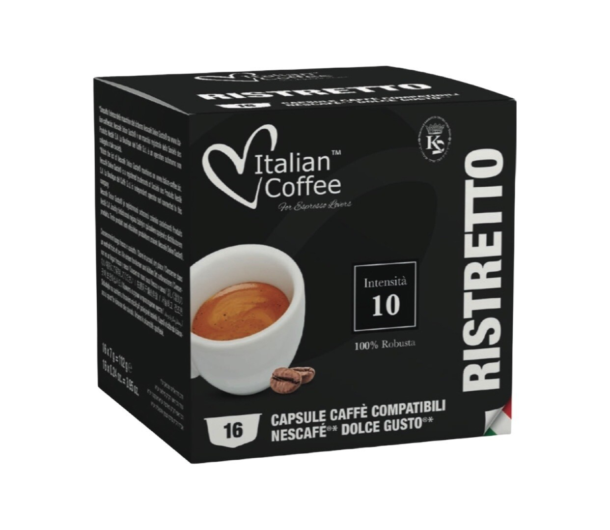 ItalianCoffee™️ Dolce Gusto Ristreto espresso x16 капсули