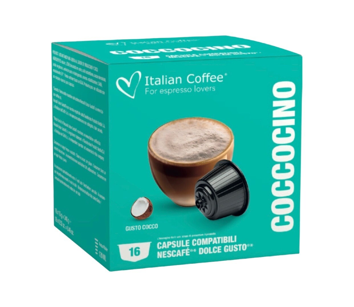 Italian Coffee™️Dolce Gusto Coccocino cappuccino/latte (Bounty вкус) х 16капсули