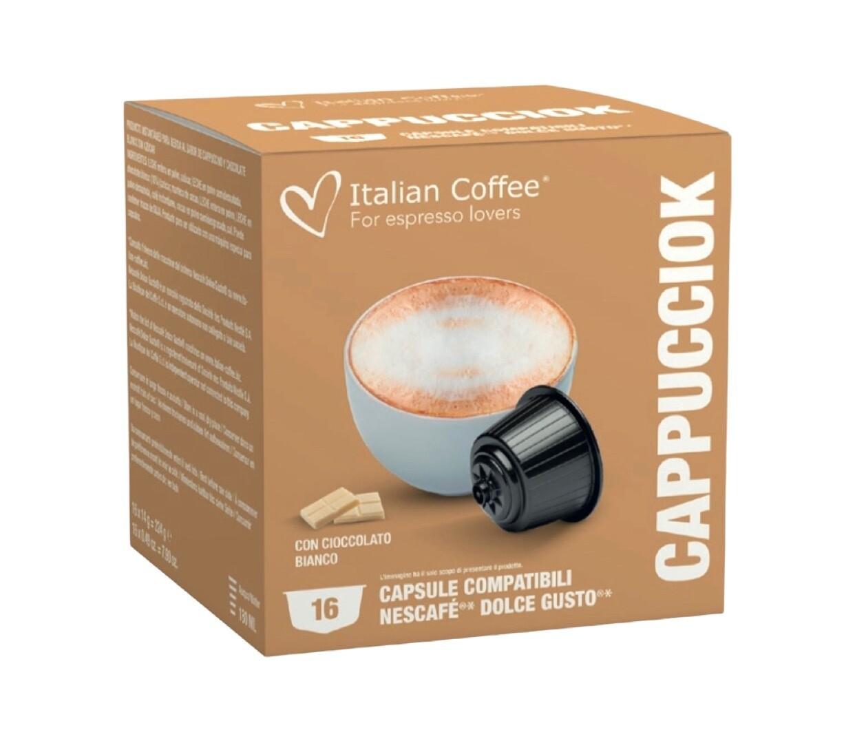 Italian Coffee™️Dolce Gusto Cappuciok CAPPUCCINO/latte со Бело Чоколадо