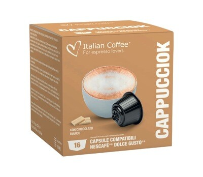 Italian Coffee™️Dolce Gusto Cappuciok CAPPUCCINO/latte со Бело Чоколадо х16