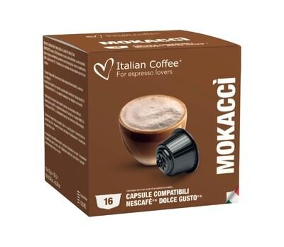 Italian Coffee™️Dolce Gusto Mokacci Чоко капучино/лате х16 капсули