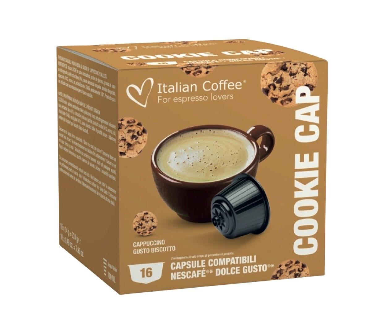 Italian Coffee™️Dolce Gusto Cookies Cappuccino/latte x16 капсули