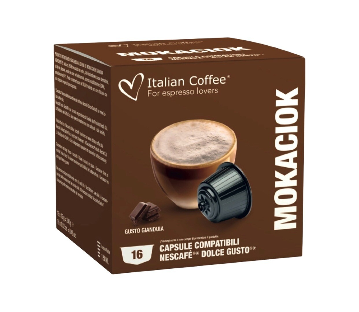 Italian Coffee™️Dolce Gusto  Mokaciok Cappuccino/latte (Nutella вкус) х16 капсули