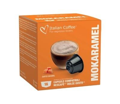 Italian Coffee™️Dolce Gusto Mokaramel Чоко-Карамел Cappuccino/latte х16 капсули