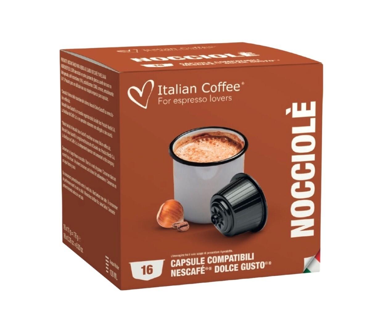 Italian Coffee™️ comp.DolceGusto* Nocciolé Cappuccino/latte со вкус лешник х16капсули