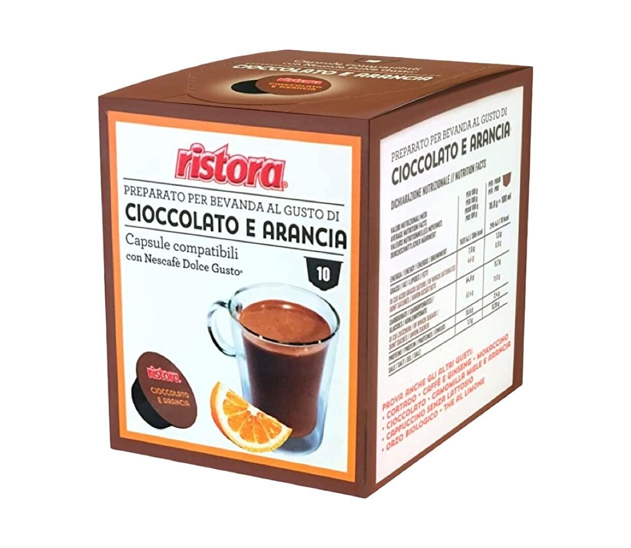 Ristora comp.DolceGusto* Ciocolato e Arancia Топло Чоколадо со вкус на портокал х10капсули