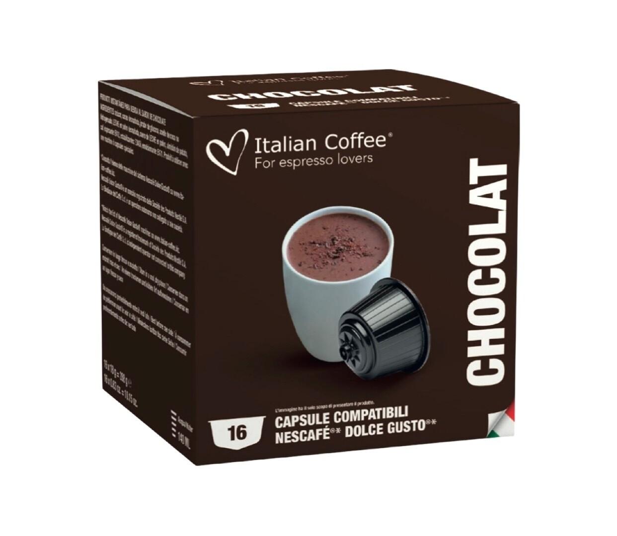 Italian Coffee™️ comp.DolceGusto* Chocolate  топло ЧОКОЛАДО х16капсули