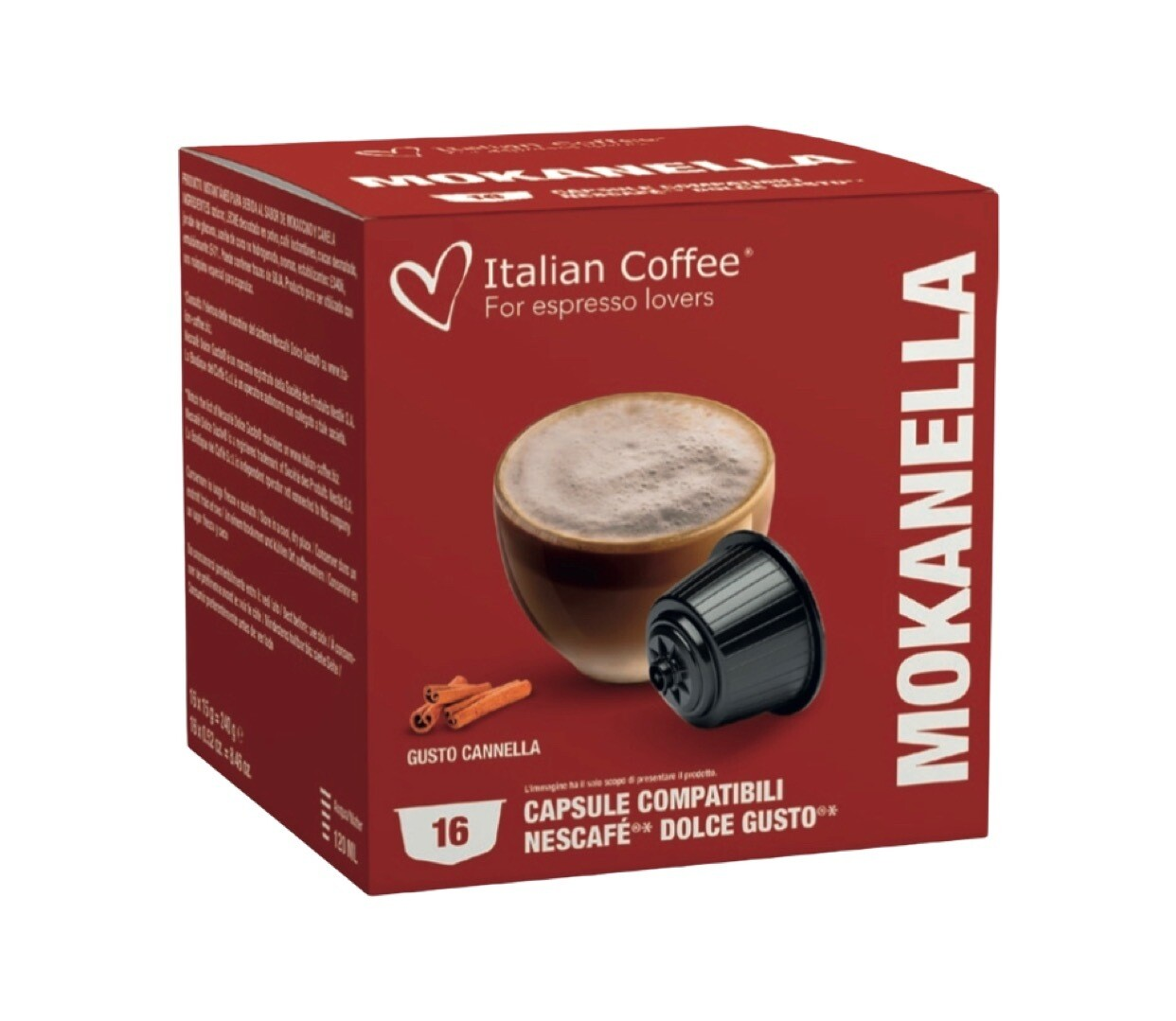 Italian Coffee™️ comp.DolceGusto* Mokanella Christmas Cappuccino/latte x16капсули