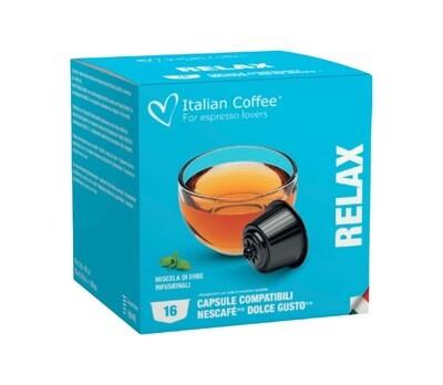 Italian Coffee™️comp.Dolce Gusto*Relax (микс на билки) Чај х16капсули