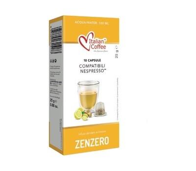Italian Coffee™️comp. Nespresso Tè Zenzero Lemone Лимон Џинџер Чај х10капсули