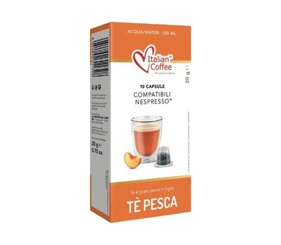 Italian Coffee™️comp. Nespresso Tè Pesca Праска Чај х10капсули