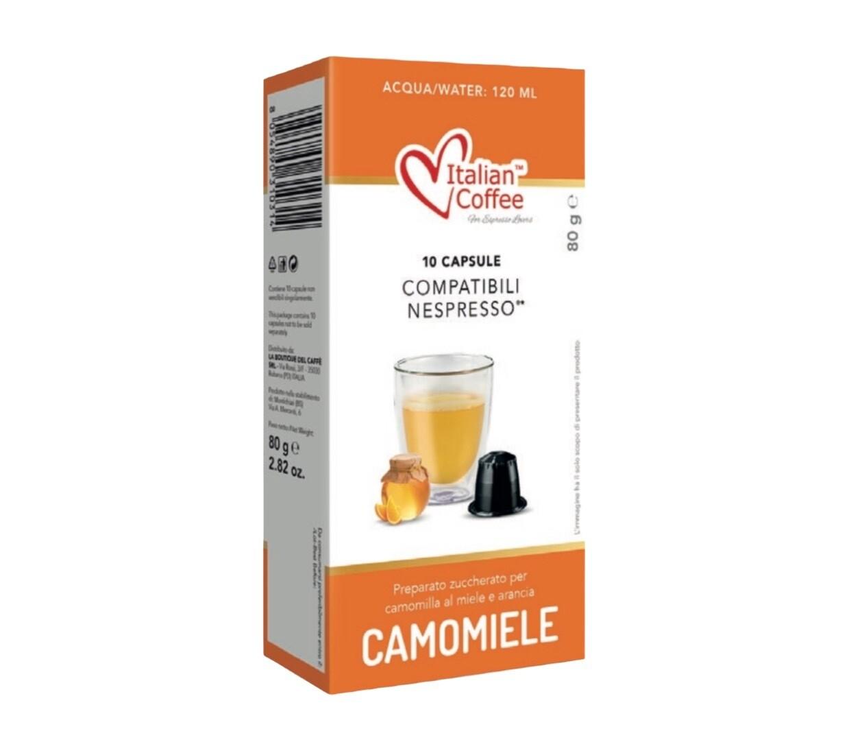 Italian Coffee™️comp. Nespresso* Camomiele Камилица со мед Чај х10капсули