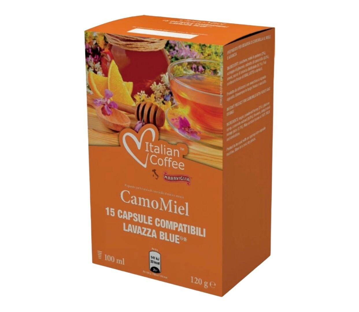 Italian Coffee*comp.Lavazza Blue Camomiel Камилица-Мед Чај х15капсули