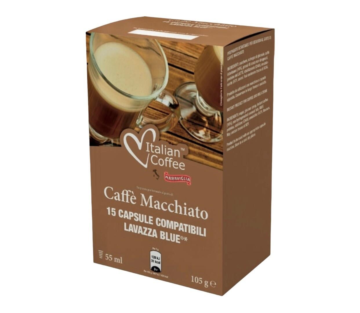 Italian Coffee*comp.Lavazza Blue Caffe Macchiato x15 капсули