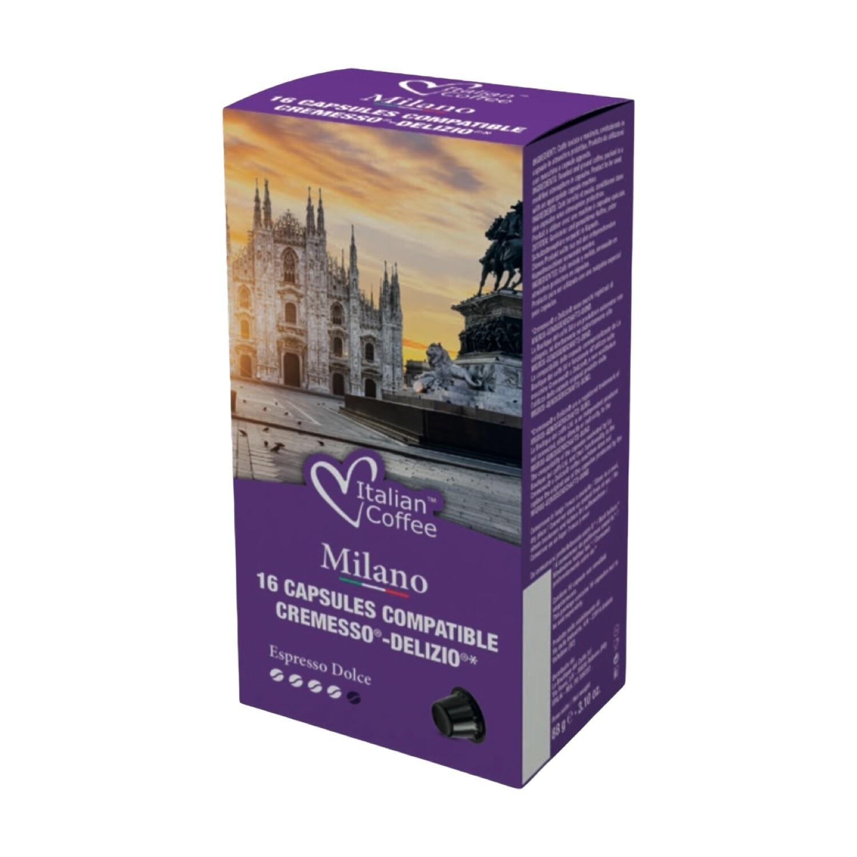 Italian Coffee™️NOA Milano 70%Robusta espresso x16 капсули