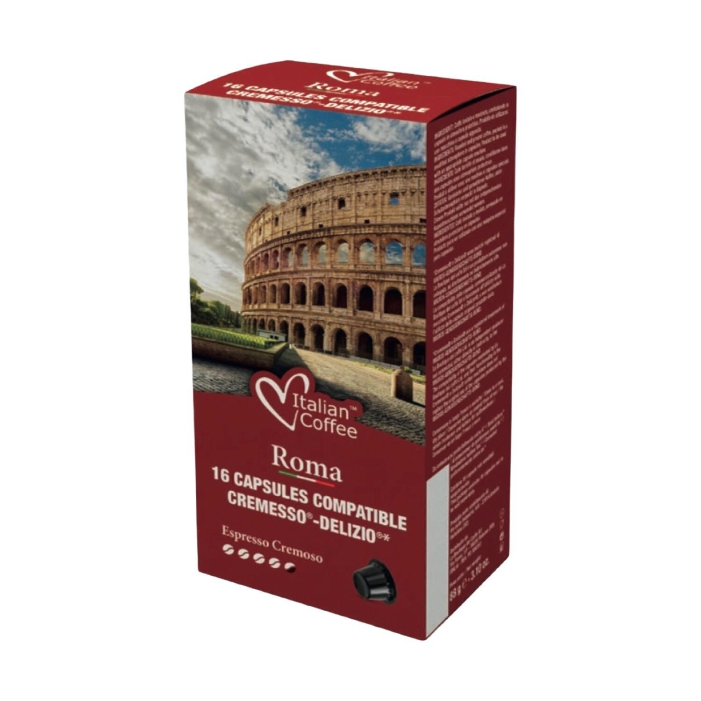 Italian Coffee™️NOA Roma 40%Arabica espresso x16 капсули