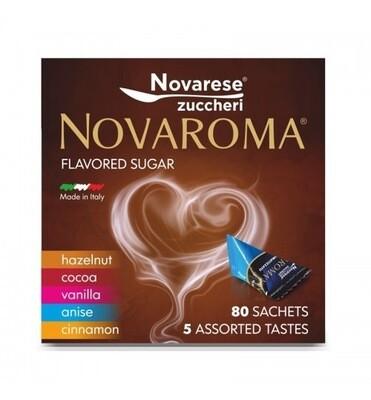 NovaAroma шеќер со различни вкусови х80 кесички